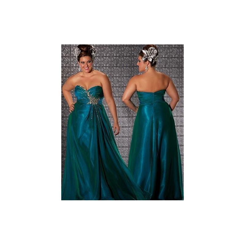 MacDuggal Fabulouss Iridescent Organza Plus Size Prom Dress 6320F ...