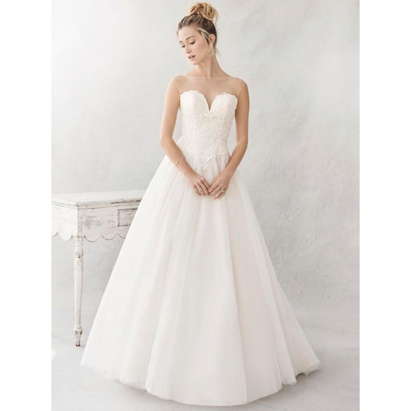 Wedding - Ella Rosa Spring/Summer 2017 BE385 Cap Sleeves Aline Chapel Train Illusion Sweet Pink Tulle Embroidery Bridal Dress - HyperDress.com
