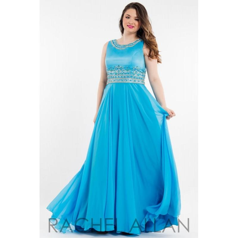 Mariage - Turquoise Rachel Allan Plus Size Prom 7828 RACHEL ALLAN Curves - Rich Your Wedding Day
