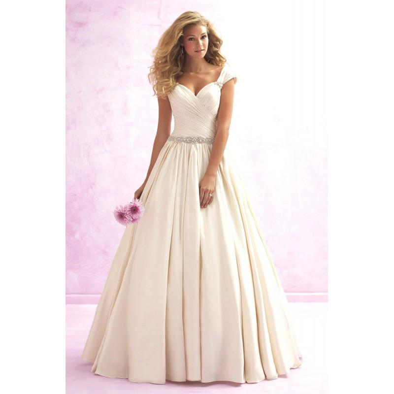 Wedding - Madison James Style MJ110 by Madison James - Ivory  White Taffeta Low Back Floor Sweetheart Ballgown Capped Wedding Dresses - Bridesmaid Dress Online Shop