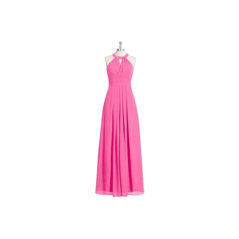زفاف - Azalea Azazie Abbey - Floor Length Halter Strap Detail Chiffon Dress - Cheap Gorgeous Bridesmaids Store