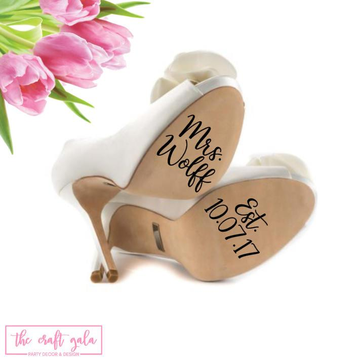 Nozze - Wedding Shoe Decal, Wedding Shoe Stickers, I Do Shoe Stickers, I Do Shoe Decal, Personalized Wedding Decal, Personalized Wedding Sticker