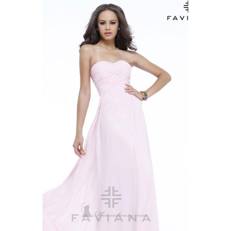 a1a7f74bf0ca Strapless Sweetheart Gown by Faviana 7338 - Bonny Evening Dresses Online