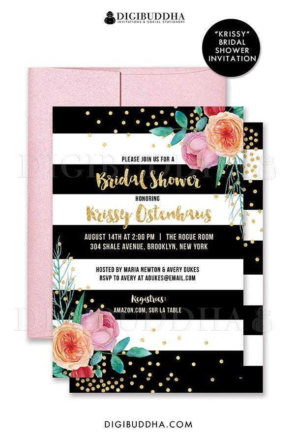 Свадьба - Digibuddha Bridal Shower Invitations