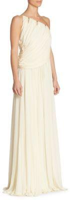 Wedding - Halston Heritage One-Shoulder Gown
