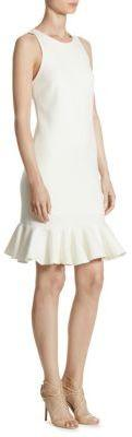 Mariage - Halston Heritage Knit Fitted Knee-Length Dress