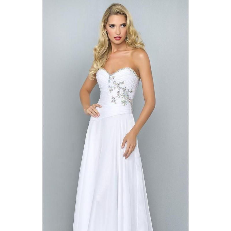 Mariage - White Embellished Sweetheart Gown by Landa Designs Signature Pageant - Color Your Classy Wardrobe
