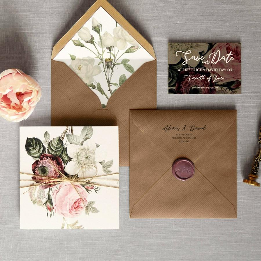 English Garden - Luxury Folding Wedding Invitations & Save The Date ...