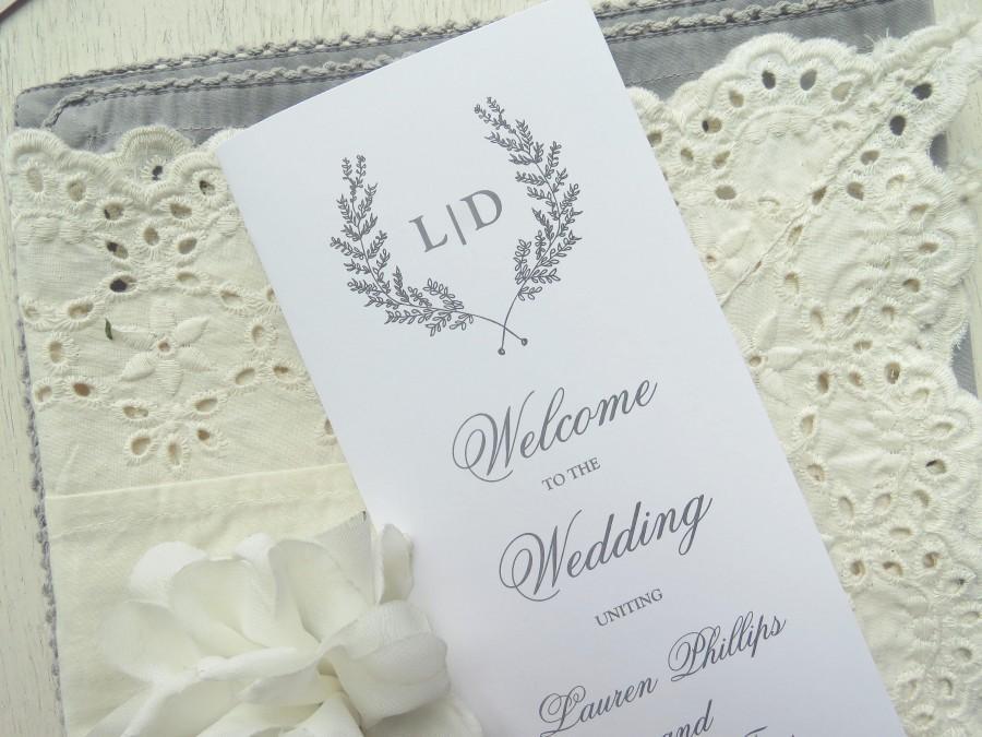 Wedding - Wedding Program Template