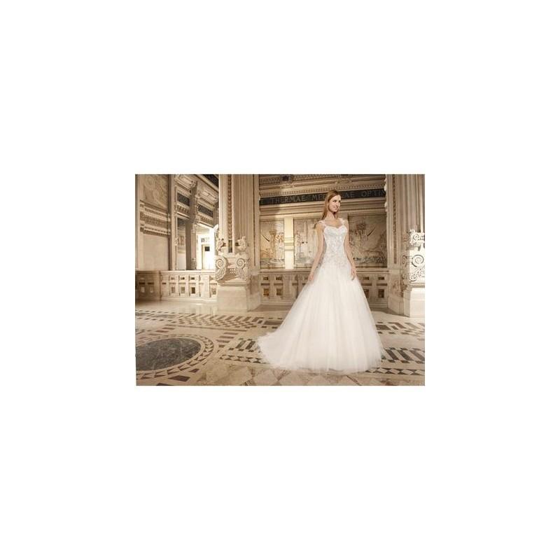 Wedding - Vestido de novia de Demetrios Modelo GR259 - 2015 Princesa Tirantes Vestido - Tienda nupcial con estilo del cordón