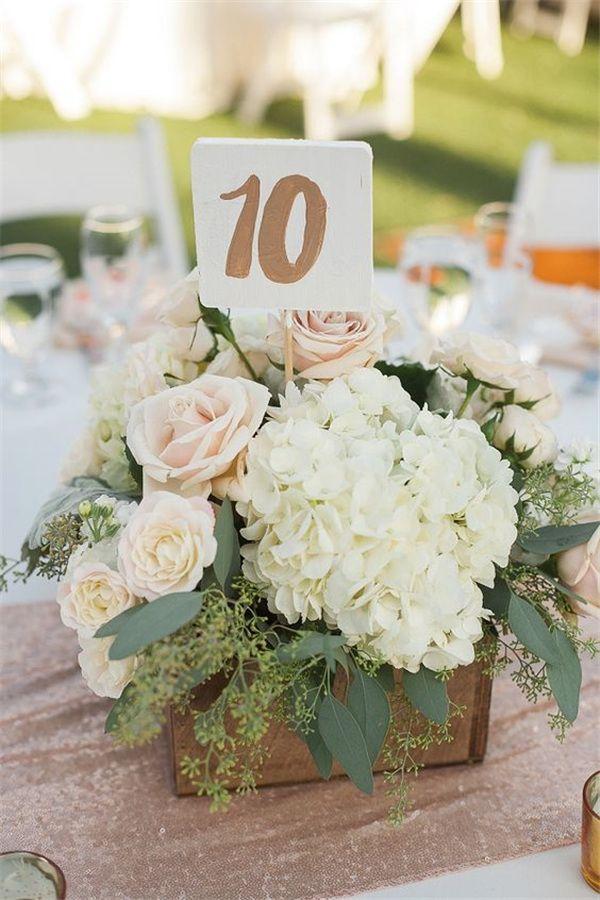 21 Simple Yet Rustic Diy Hydrangea Wedding Centerpieces Ideas 2794276 Weddbook