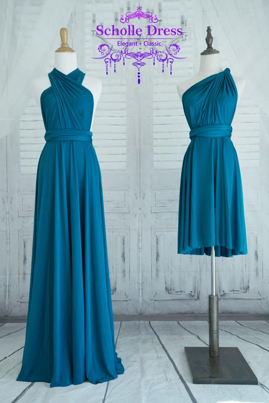 Teal Blue Bridesmaid Dress