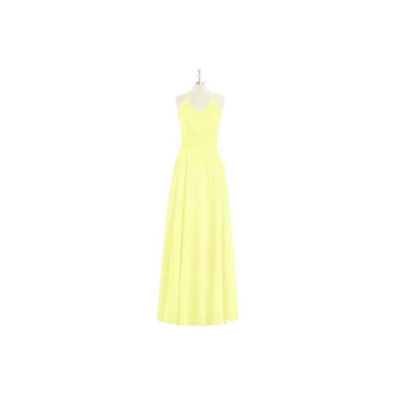 Wedding - Daffodil Azazie Faith - Halter Floor Length Bow/Tie Back Chiffon Dress - Cheap Gorgeous Bridesmaids Store