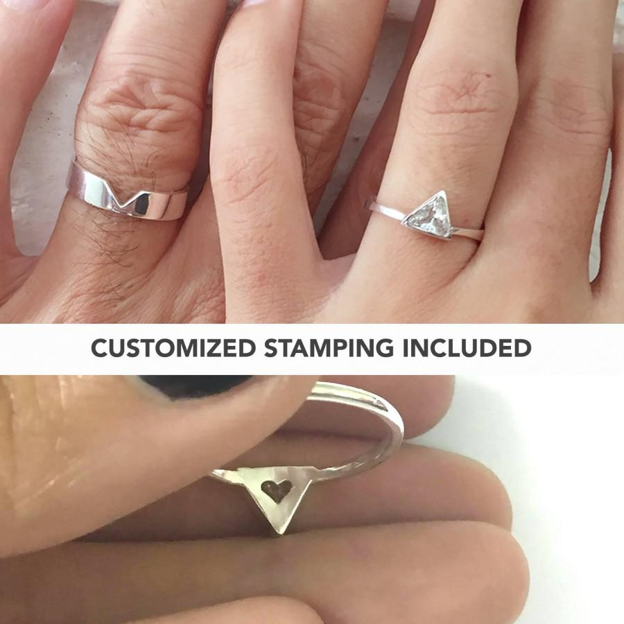 matching promise rings, promise ring, couple rings, his and her
