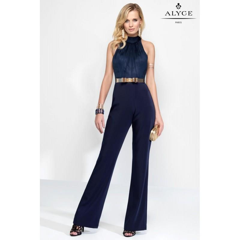 Mariage - Alyce Claudine 2576 Halter Top Formal Jumpsuit - Brand Prom Dresses