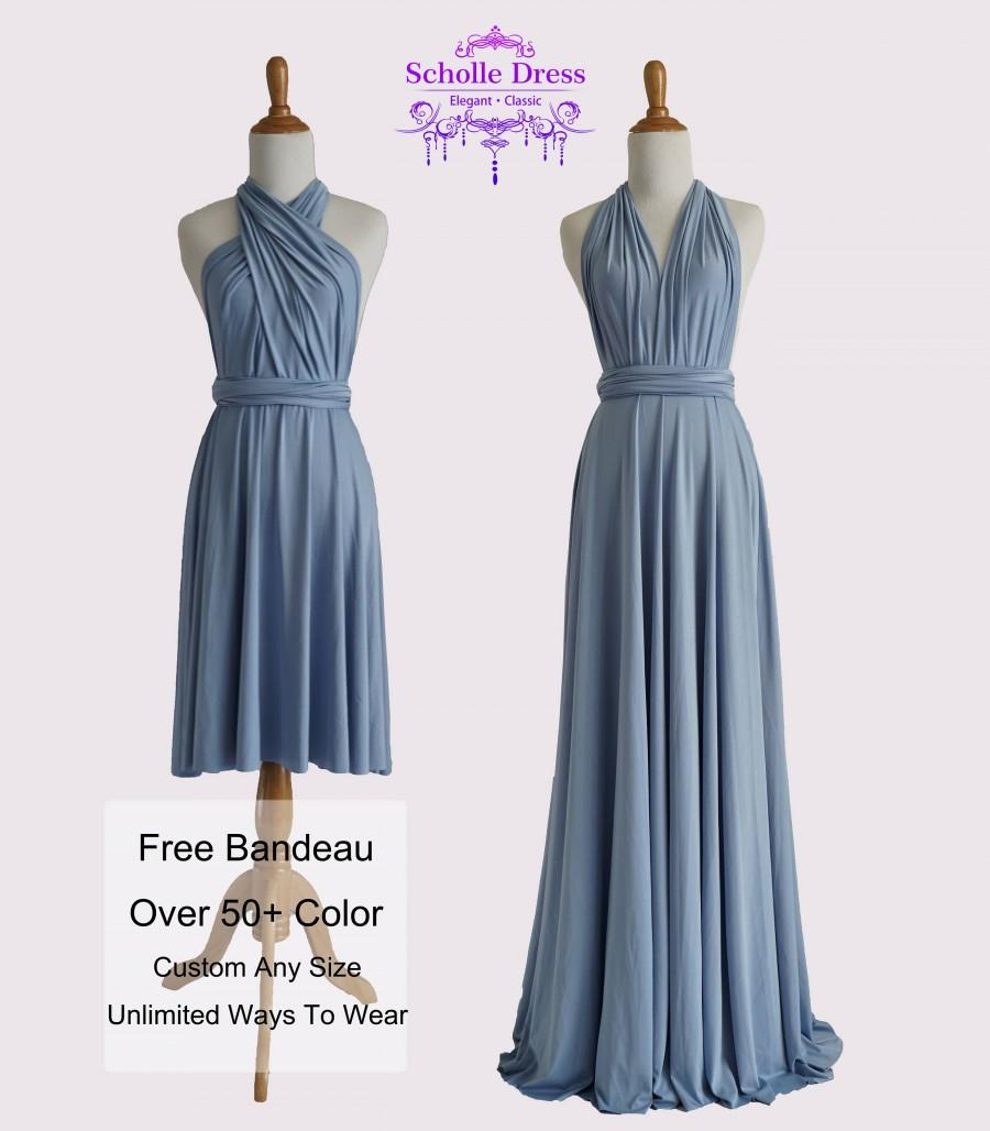Steel blue bridesmaid dresses gown convertible dress infinity steel blue bridesmaid dresses gown convertible dress infinity dress maternity dress party dress wrap dress c56 b56 ombrellifo Images