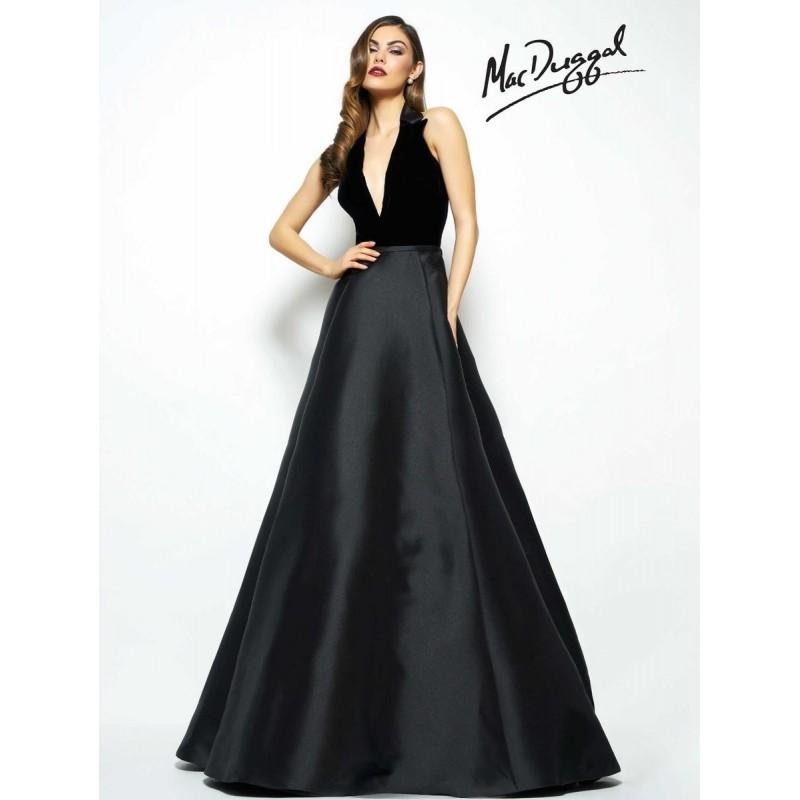 Wedding - Black White Red by Mac Duggal 80585R - The Unique Prom Store