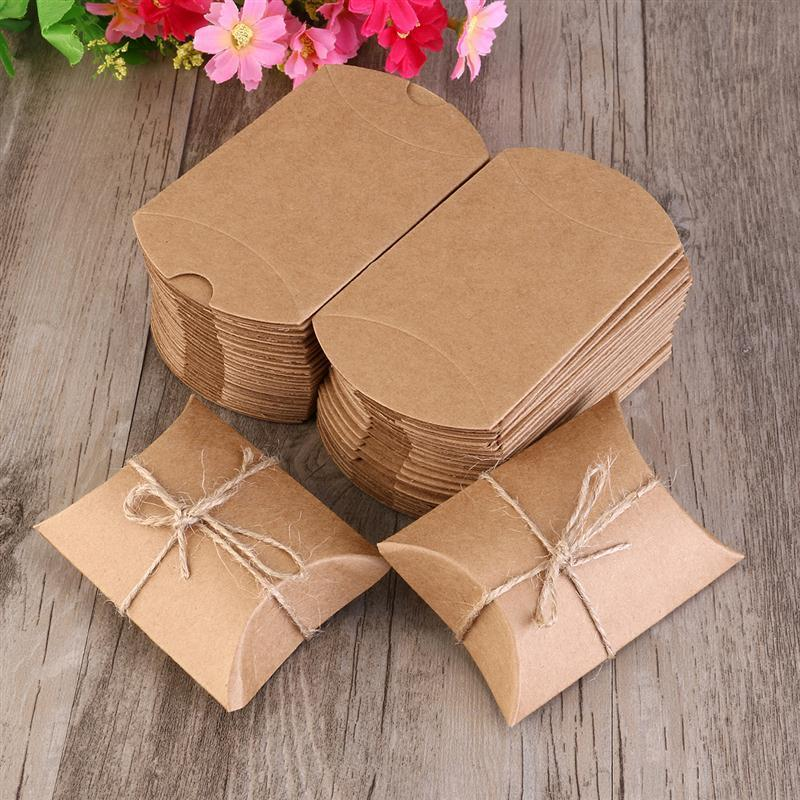 زفاف - Eco Friendly Recycled Paper Gift Boxes (50 Pack)