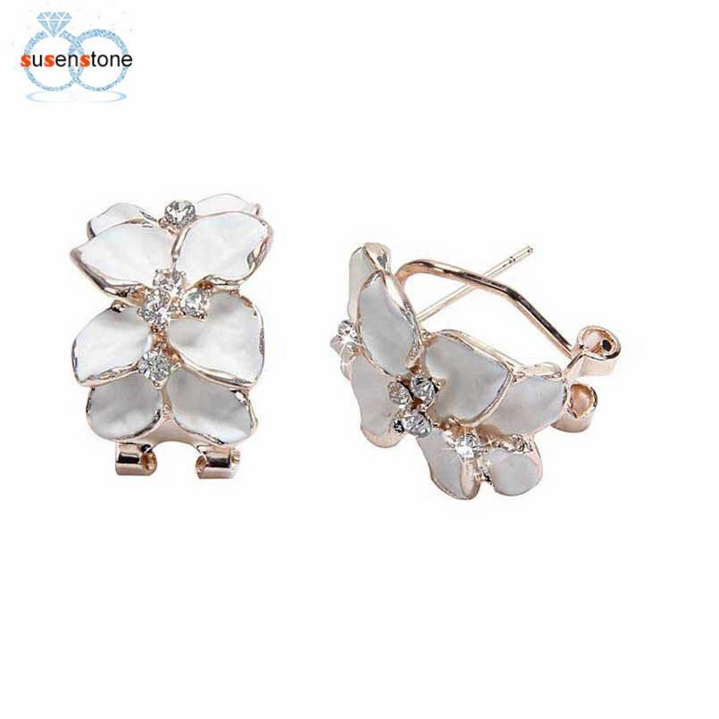 Hochzeit - Floral Wedding Party Earrings
