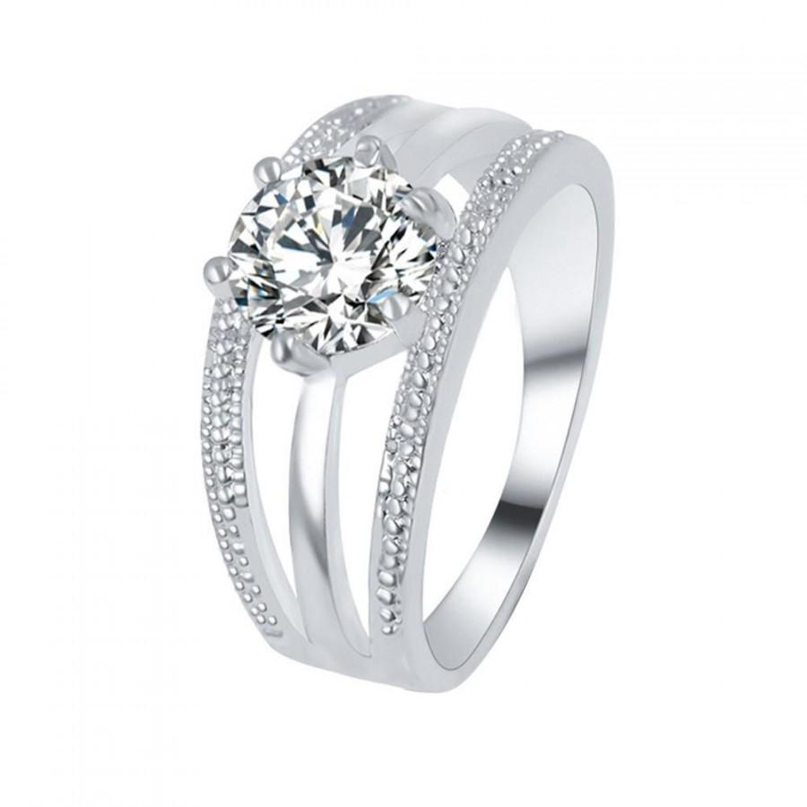 Hochzeit - Tri Band Diamond Engagement Rings
