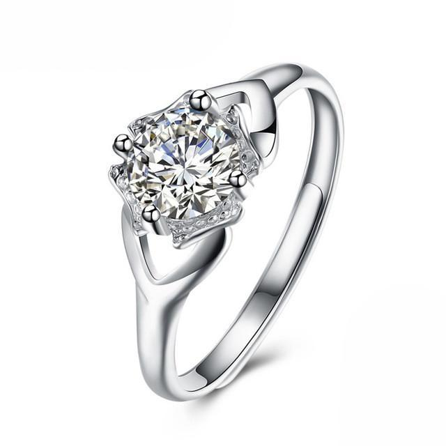 Свадьба - Resizable Silver Wedding or Engagement Ring
