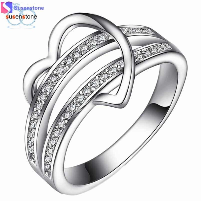 Hochzeit - Heart & Love Women's Wedding Ring