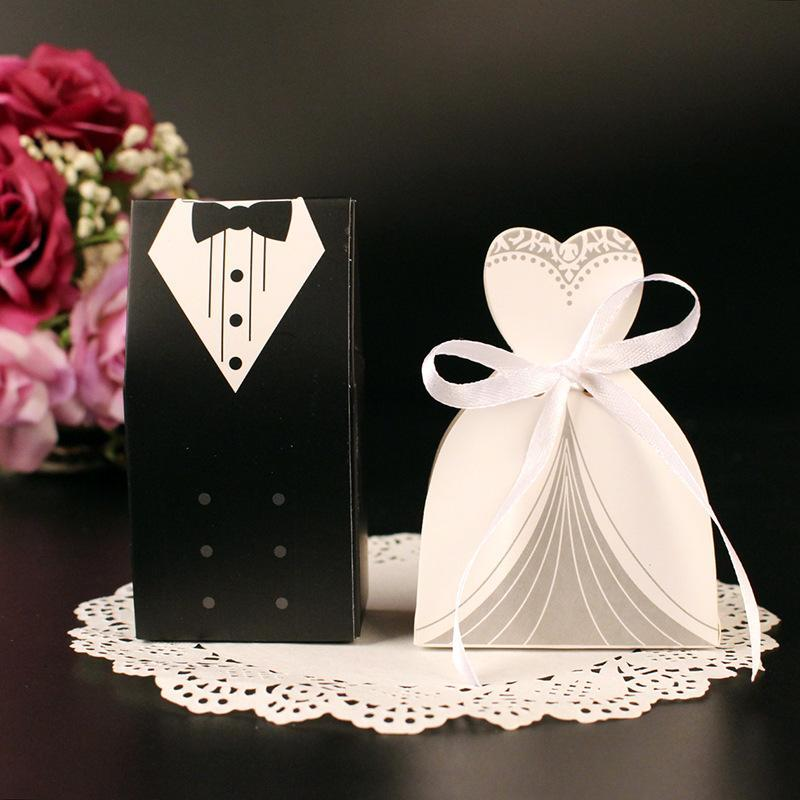 Wedding - Bride And Groom Wedding Candy Box (50 Pack)