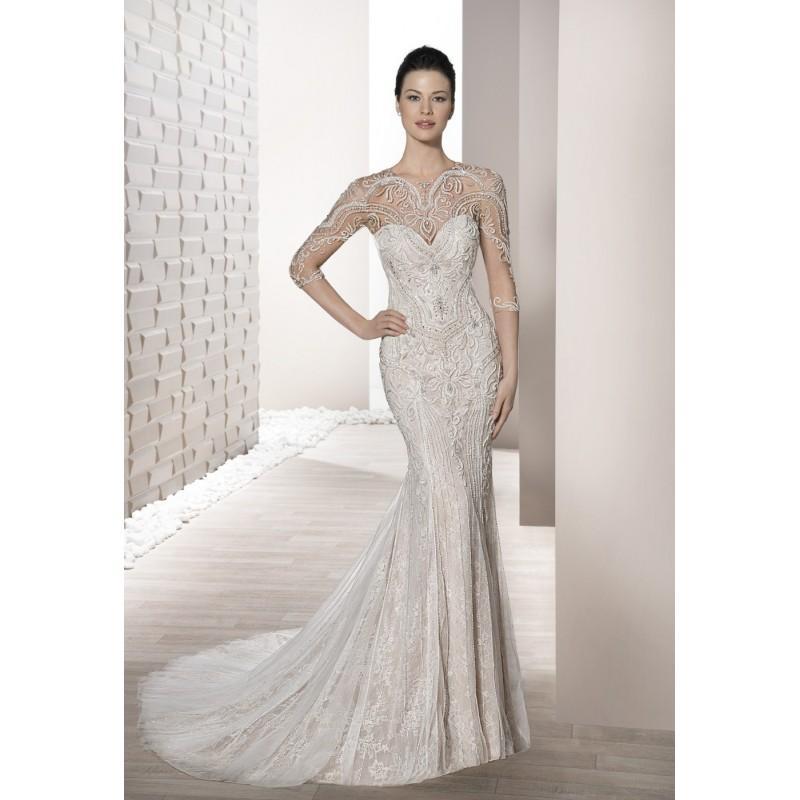 Wedding - 694  (Demetrios) 2017 Demetrios 694 Sirena Ilusión Largo Con mangas - Vestidos de novia 2017