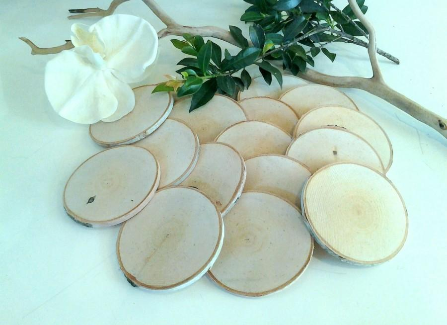 "زفاف - 25  (3"")  Birch Wood tree slices - Birch logs - Save the date - diy projects - Rustic wedding - Magnets - Christmas tree ornaments"