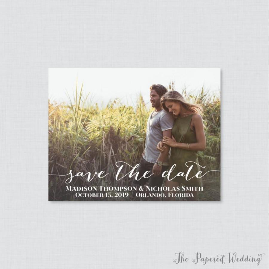 زفاف - Printable OR Printed Photo Save the Date Cards - Photo Save our Date Cards for Wedding - Save the Dates Card with Landscape Picture 0004
