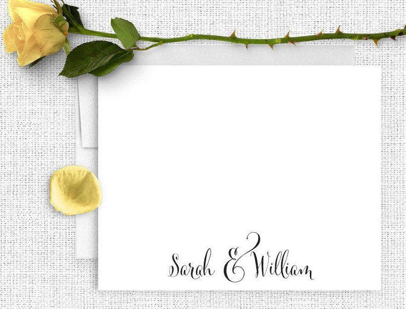 زفاف - Wedding Thank You Notes, Personalized Wedding Stationery, Couples Stationary, Thank You Cards,  Wedding Notes, Calligraphy Wedding, WS02