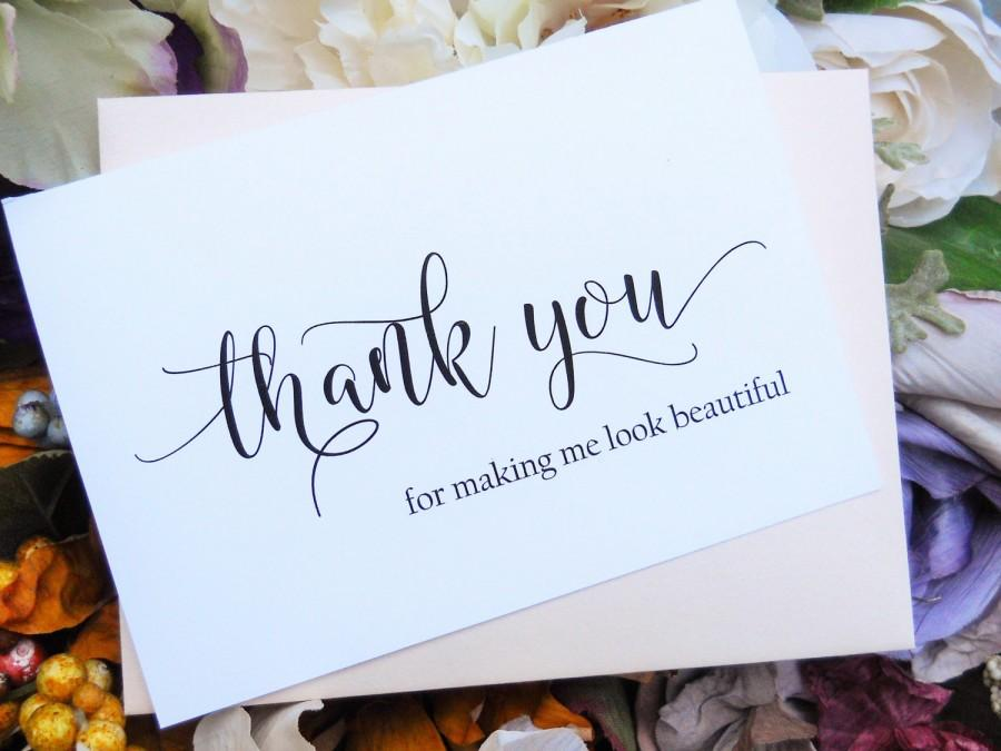 HAIRSTYLIST THANK YOU Card Beautician Thank You Make Up Artist – Personalized Thank You Wedding Cards
