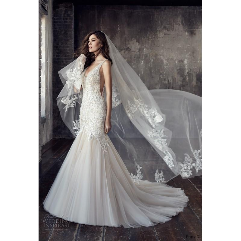 Hochzeit - Eddy K.Couture Style CT187 2018 Chapel Train Sexy Sleeveless Bridal Dress Chapel Train Sexy Sleeveless Bridal Dress - Fantastic Wedding Dresses
