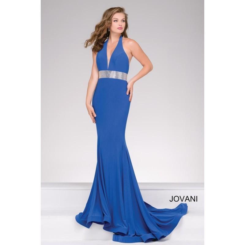 Mariage - Jovani 49250 Backless Jersey Prom Dress - Brand Prom Dresses