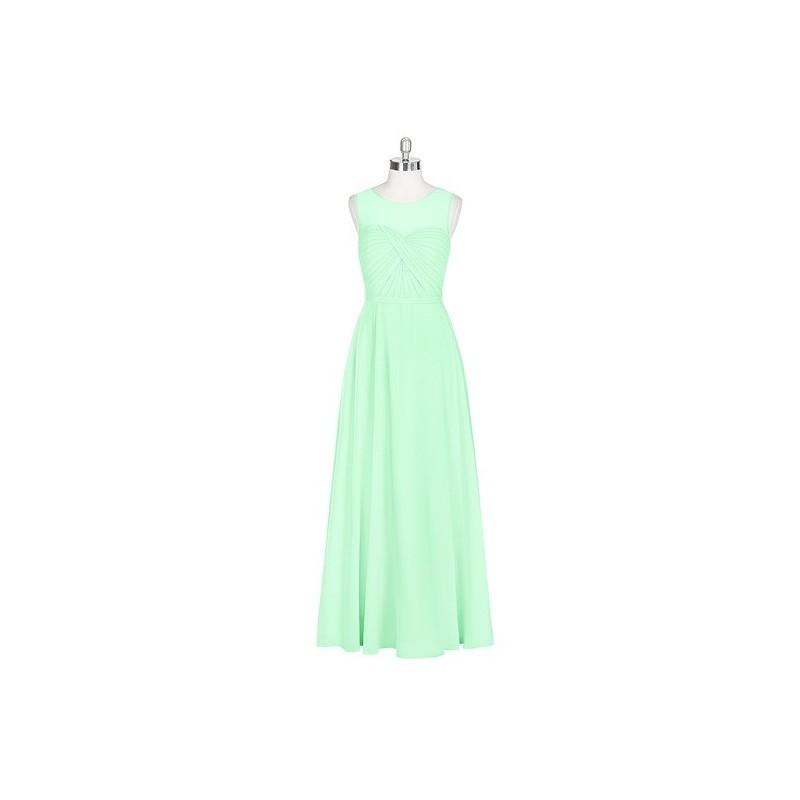 e41e50c0c4 Mint green Azazie Justine - Chiffon Floor Length Illusion Sweetheart Dress  - Cheap Gorgeous Bridesmaids Store