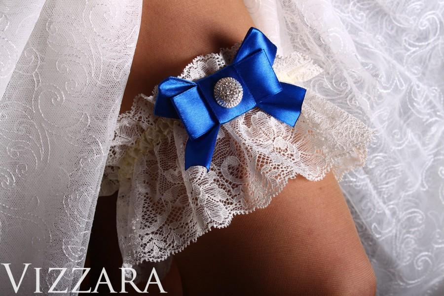 Mariage - Royal Blue Wedding lace toss garter bride wedding ideas bridal lace garters wedding royal blue garter brides accessories Wedding blue set