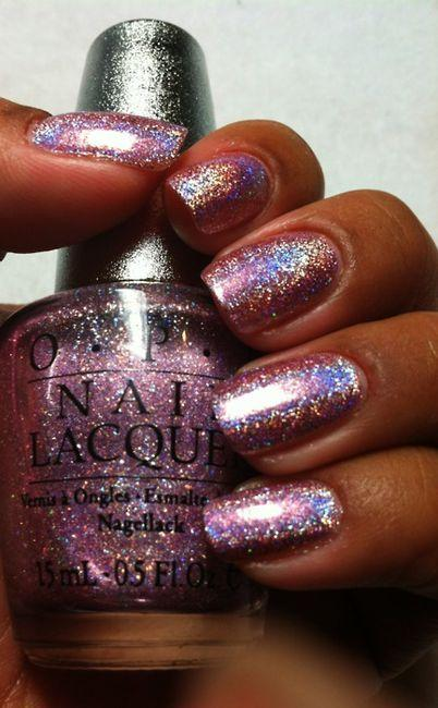 زفاف - Pink Sparkling Nail Polish