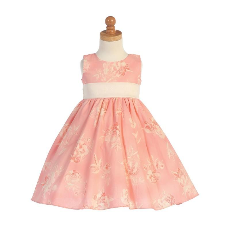 Wedding - Coral Cotton Floral Dress Style: LM667 - Charming Wedding Party Dresses