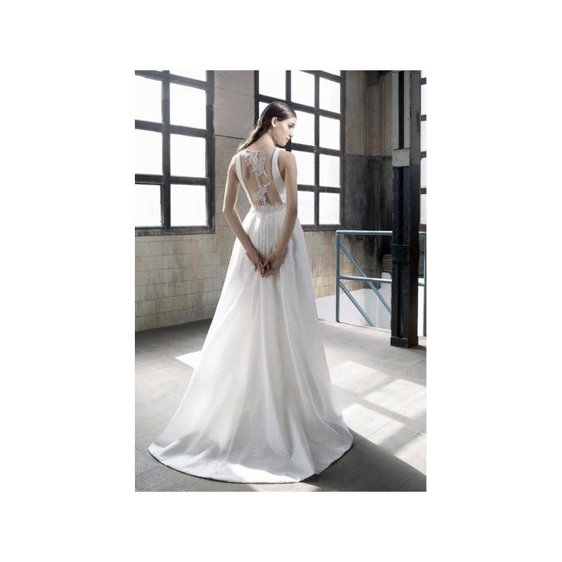 Hochzeit - Vestido de novia de Inmaculada Garcia Modelo Abigail, espalda - 2016 Imperio Pico Vestido - Tienda nupcial con estilo del cordón