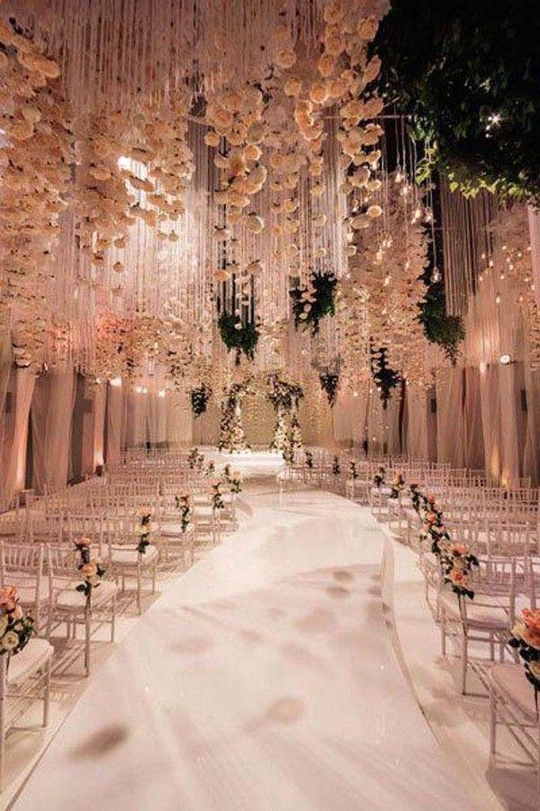 زفاف - Trending-12 Fairytale Wedding Flower Ceiling Ideas For Your Big Day - Page 2 Of 2