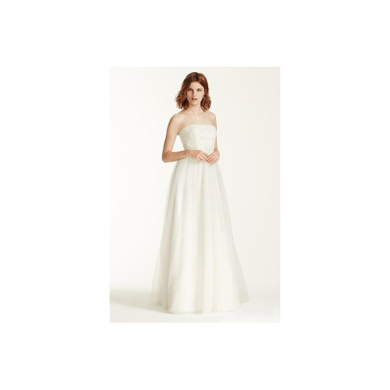 Свадьба - Melissa Sweet Spring 2015 MS251082Strapless Ivory A-Line Spring 2015 Full Length Melissa Sweet for David's Bridal - Rolierosie One Wedding Store