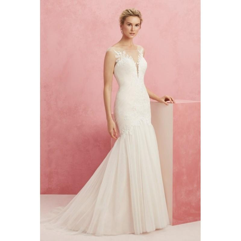 Mariage - Style BL220 by Beloved by Casablanca Bridal - Fit-n-flare LaceSatinTulle Semi-Cathedral Illusion Floor length Cap sleeve Dress - 2018 Unique Wedding Shop