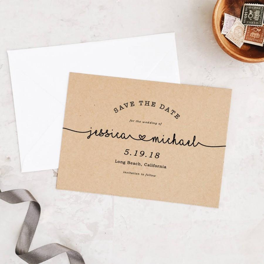 Hochzeit - Save The Dates Template, Printable Save the Date, Save Our Date