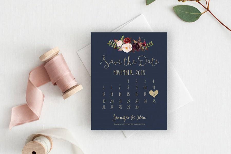 Hochzeit - Calendar Save the Date