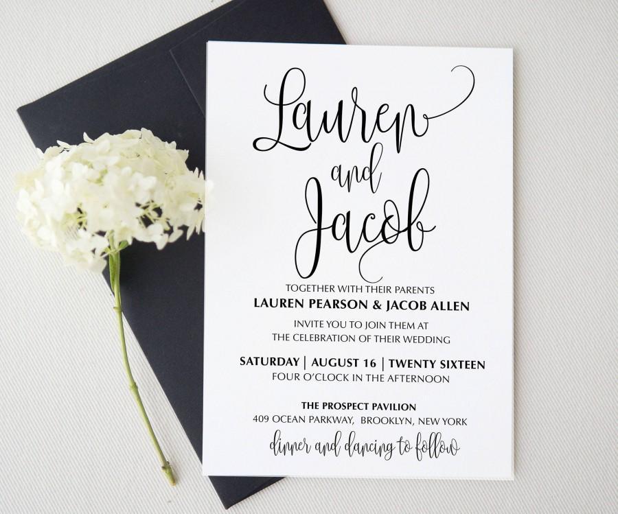 Hochzeit - Wedding invitation template . Printable Wedding Invitation Suite. Wedding Invitation Suite. Wedding Invitation Set. made to order invitation