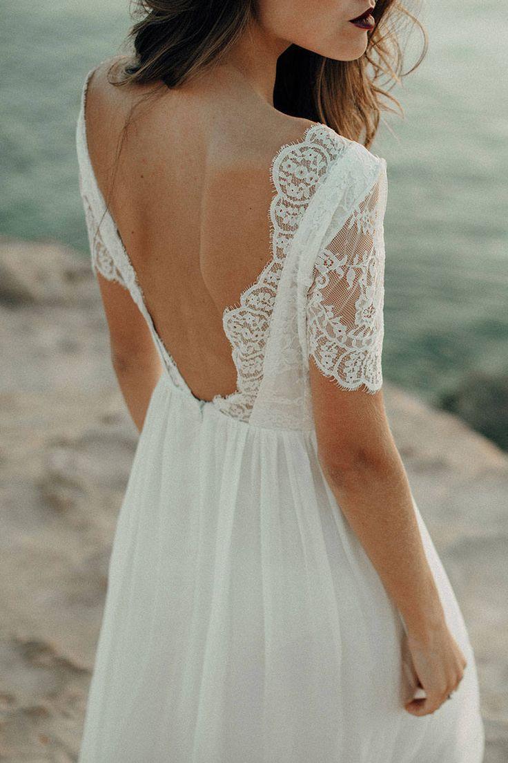 Wedding Dress, Beach Wedding Dress, Lace Wedding Dress, Boho ...
