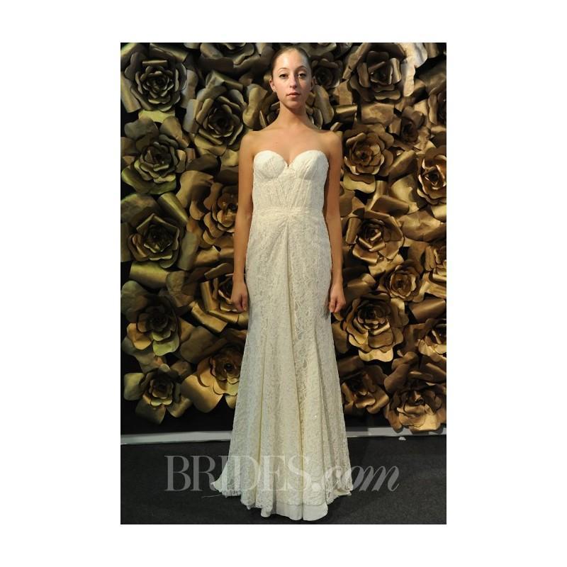 زفاف - Sarah Seven - Spring 2014 - French 75 Strapless Lace Sheath with Structured Sweetheart Bodice - Stunning Cheap Wedding Dresses