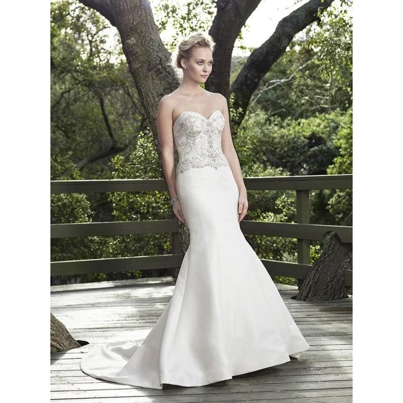 Fit And Flare Wedding Dresses: Casablanca Bridal Willow 2251 Strapless Satin Beaded Fit
