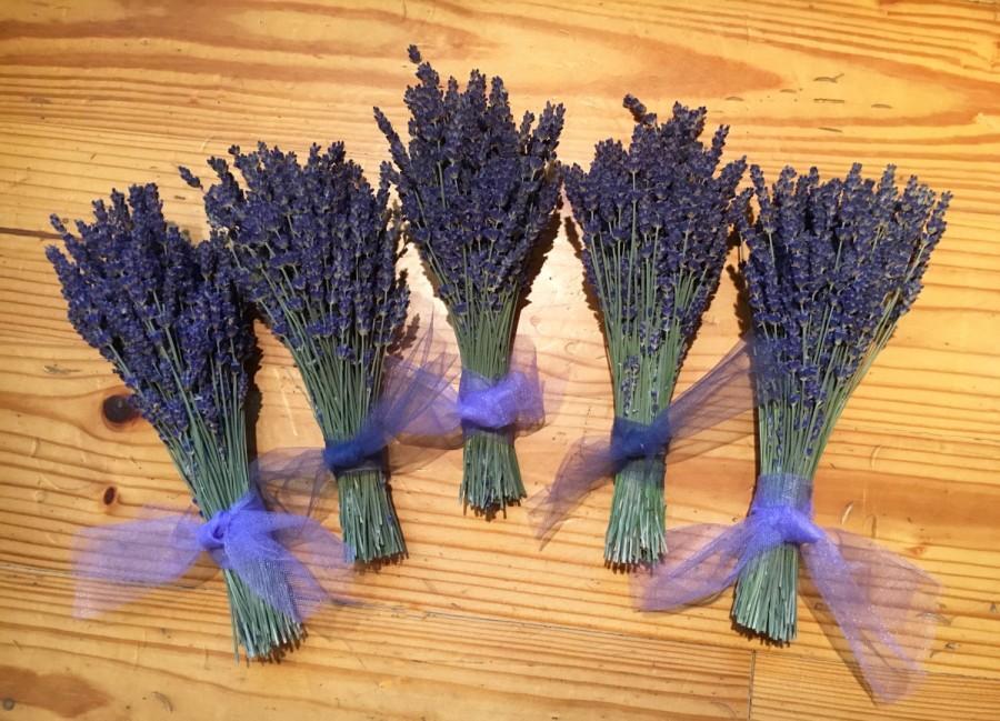 Mariage - Set of 6: Summer's Brightest Cutest Dried Lavender Bouquets, Bundle, Boutonniere, Bumper crop discount!