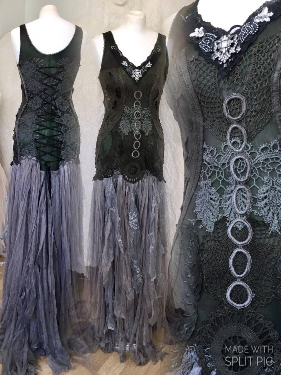 Gothic Wedding Dress Black,witches Wedding Dress,Rock N Roll Wedding ...